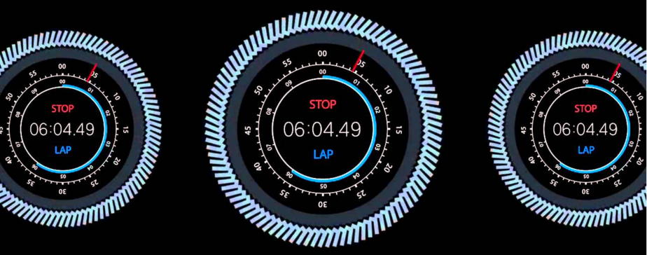 Fitness tracker interface 1 mile lap
